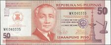 TWN - PHILIPPINES 211A - 50 Piso 2012 UNC - 45th Ann. ASEAN Day - Prefix WK
