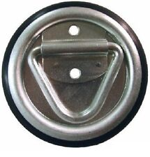 """4"""" Round Surface Mount D Ring Tie Downs Trailer ATV 800# Rated with Bezel"""