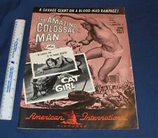 Vintage 1950s Amazing Colossal Man Promo Movie Poster Advertising Portfolio