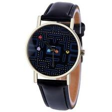 Very Unusual PAC MAN inspired Quartz Watch Black Strap