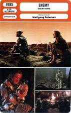 Fiche Cinéma Movie Card. Enemy/Enemy mine (USA/Allemagne) 1985 Wolfgang Petersen