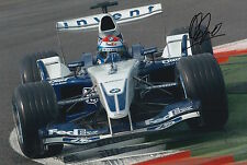 Marc Gene mano firmado 12x8 Foto BMW Williams F1 1.