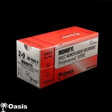 Veterinary Suture Monofyl 2-0/NFS-1 Absorbable Violet 12/bx MV-Y943-V