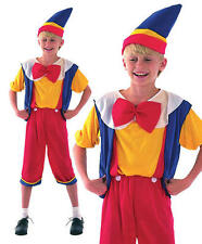 Childrens Kids Pinocchio Fancy Dress Costume Disney Childs Boys Outfit M