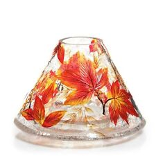 YANKEE CANDLE AUTUMN LEAVES CRACKLE GLASS JAR CANDLE SHADE NWTS RETIRED RARE HTF