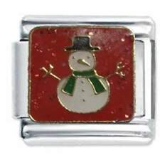 CHRISTMAS SNOWMAN - Daisy Charm by JSC Italian Charms fit classic size bracelet