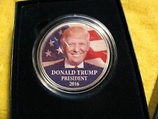 "2016 Uncirculated Silver Eagle ""DONALD TRUMP PRESIDENT 2016"" LIMITED ED 1 of 20"