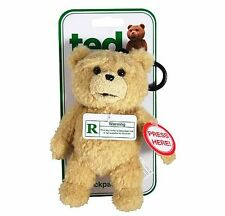 """""""TED"""" R-RATED TALKING BACKPACK CLIP PLUSH TEDDY BEAR- FREE SHIPPING!"""