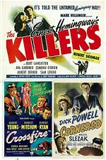 THE KILLERS 1946, CORNERED 1945,CROSSFIRE 1947 -EARLY NOIR MYSTERIES