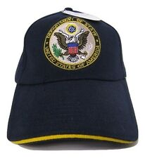 United States President Presidential Seal Gold Blue Embroidered Cap Hat
