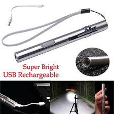 Portable USB Rechargeable LED Flashlight Waterproof Mini Torch Keychain Lamp New