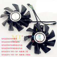 1 pair XFX Radeon Sapphire HD7950 HD7970 VAPOR-X Dual Fan FD9015U12S with metab
