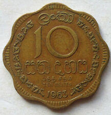 Sri Lanka 10 Cents 1963 coin