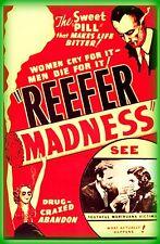"""3.25"""" Funny Marijuana sticker. REEFER MADNESS original sign. 420 For your bong"""