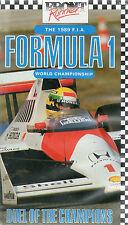 1989 FORMULA 1 WORLD CHAMPIONSHIP DUEL OF THE CHAMPIONS SENNA PROST VHS VIDEO