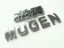 Mugen Power Insignia de Plata Negro Para Honda Civic Tipo R Hot Hatch S2000 Jazz