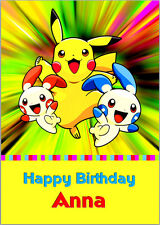 Pokemon Go Pikachu Birthday Card A5 Personalised with any wording