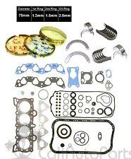 88-95 Honda Civic 1.5 16V SOHC D15B D15B7 D15B8 Full Set Rings Main Rod Bearings