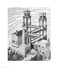 MC Escher Wasserfall Poster Kunstdruck Bild 65x55cm