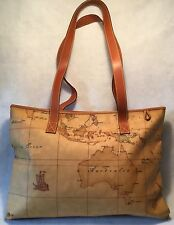 Retro ALVIERO MARTINI Large 1A CLASSE Classic Geo Printed Shopping Bag or Tote