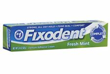 Fixodent Denture Adhesive Cream, Fresh Mint 2.40 oz (Pack of 5)