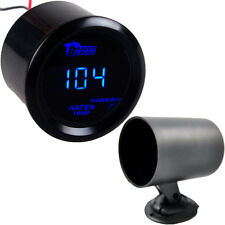 "2"" 52mm Cover Car Universal Digital Blue LED Water Temp Gauge Fahrenheit F + Pod"