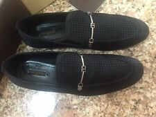 100% AUTHENTIC LOUIS VUITTON MEN EMBLEM LOAFERS SIZE US 9,5/UK 9