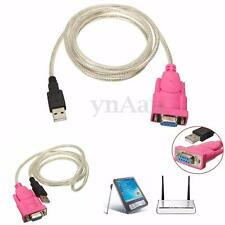 RS232 Serial DB9 9 Pin Female to USB 2.0 PL-2303 Cable Adapter for Win 7/8 Linux
