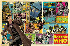 DOCTOR WHO: 11th Doctor Comic Strip Style - Large 24x36 BBC TV Show Poster