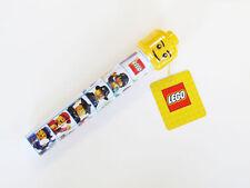 LEGO Astuccio Tubo-Inc 2 Matite-RIGHELLO-TEMPERAMATITE-Lego Brick ERASER!