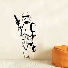 Wall Sticker Decal Vinyl  Star Wars Robot White Darth Vader Movie Stormtrooper