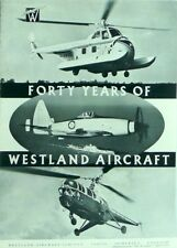 Forty Years Of Westland Aircraft Promotional Brochure