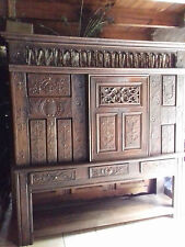 HUGE CARVED ANTIQUE FRENCH REGENCY/NAPOLEONIC RUSTIC CUPBOARD MADE FROM A BED