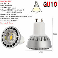 Ultra Bright 15W E27/GU10/MR16 Dimmable LED Spotlight COB Lights Bulb CREE Lamp