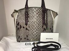 BRAHMIN LARGE DUXBURY STONE CARLISLE LEATHER SATCHEL/ BAG/PURSE K49 815 00294