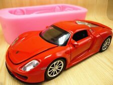 3D Sports Car Silicone Fondant Mould Chocolate Sugarcraft Mold Baking Tool DIY