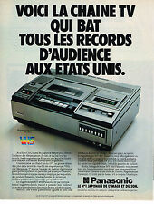 PUBLICITE ADVERTISING 054  1979  PANASONIC   magnétoscope VHS
