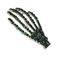Kreepsville 666 Diamonte Skeleton Hand Brooch Tattoo Punk Goth Psychobilly Green