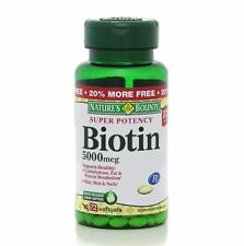 Nature's Bounty Biotin 5000 mcg Liquid Softgels 60 Soft Gels