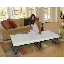 Deluxe Folding Bed Roll Away Guest Portable Sleeper Foam Mattress Cot NEW