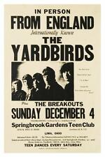 the Yardbirds POSTER Jimmy Page & Jeff Beck RARE LIVE CONCERT Led Zeppelin
