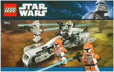 LEGO STAR WARS CLONE TROOPER BATTLE PACK 4 FIGURES 7913 100% COMPLETE GUARANTEE