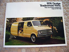 DODGE OFFICIAL TRADESMAN VANS PRESTIGE SALES BROCHURE 1976 USA EDITION