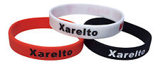 Xarelto Medical Alert Bracelet Silicone ID Blood Thinner (Set of 3) Wristband
