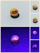 "Mega Marbles Sun Peewee 1/2"" Iridescent Red/ Yellow Marble Buy 1/More UV Blcklgt"