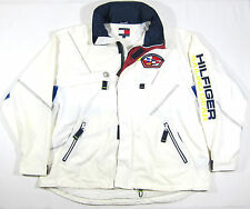 VTG 90S TOMMY HILFIGER PARKA JACKET SAILING GEAR HOODED SPORT POLO 3M NAUTICAL