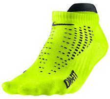 New Nike Running Low-Cut Tab Dri-Fit Socks Volt 8-12 L Large SX4469-703 Tennis