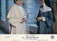 FRANCISCO RABAL ANNA KARINA LA RELIGIEUSE JACQUES RIVETTE 1967 LOBBY CARD #5