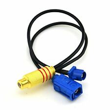 2 in 1 Fakra C Plug Male and Female to RCA Female Connector Extension Cable