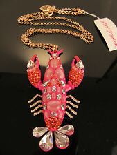 Betsey Johnson Betsey's Boat House, Large Lobster, Pink Necklace B11151-N01